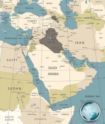 Obraz Bliski Wschód i Azja Zachodnia Old Colors