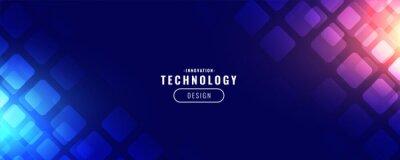 Obraz blue technology digital banner design