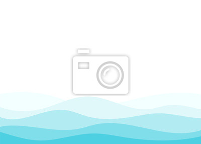 Obraz Blue water wave vector abstract background