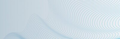 Obraz Blue wave lines on white background. Abstract wave element for design. Digital frequency track equalizer. Stylized line art background. Vector illustration. Wave with lines created using blend tool.