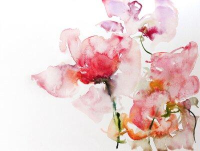 Obraz Blumen aquarell papier