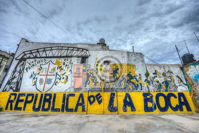 Boisko do piłki nożnej w Buenos Aires w Argentynie.