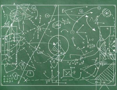 Obraz Boisko do piłki nożnej z oznaczenia coachingu ustawienie w grze