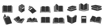 Obraz Book icons set, logo isolated on white background, vector illustration.