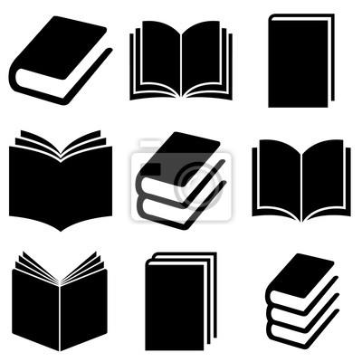 Obraz Book set icon, logo isolated on white background