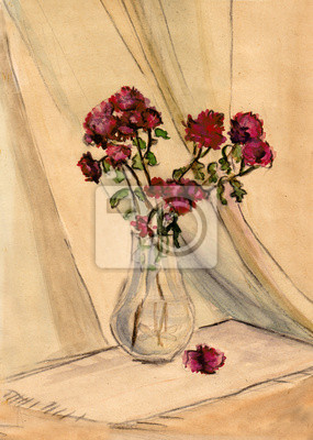 Obraz Bordo chryzantemy