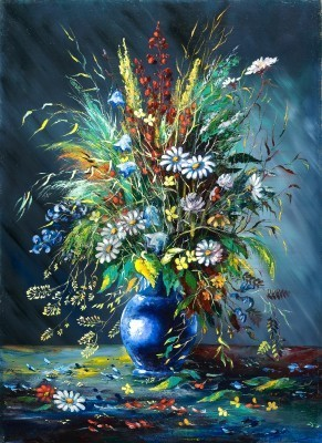 Obraz Bouquet of wild flowers in a vase