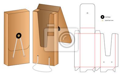 Obraz Box packaging die cut template design. 3d mock-up