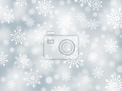 Boże Narodzenie srebrny tło płatki śniegu