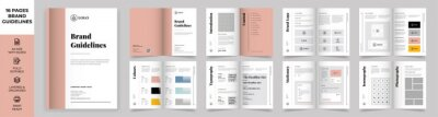 Obraz Brand Manual Template, Simple style and modern layout Brand Style , Brand Book, Brand Identity, Brand Guideline, Guide Book