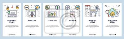 Obraz Branding website and mobile app onboarding screens vector template