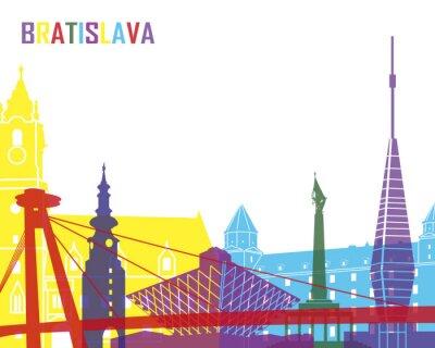Obraz Bratislava skyline pop