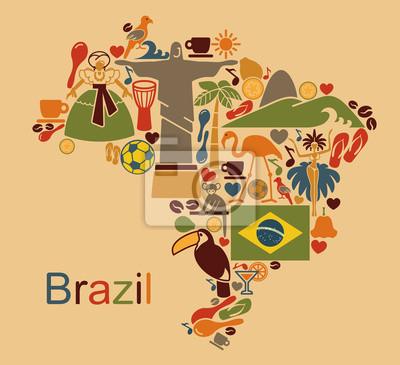 Obraz Brazil map