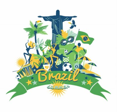 Obraz Brazylia tle