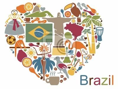 Obraz Brazylijscy ikony w kształcie serca
