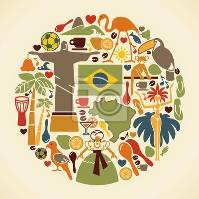 Obraz Brazylijska ikony w kształcie koła