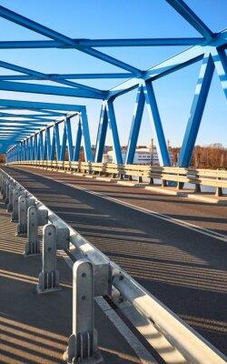 Brdowski road bridge in Szczecin at sunset, Poland.