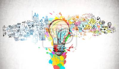 Obraz Bright idea and creative thinking