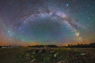 Obraz Bright Milky Way pod skałami