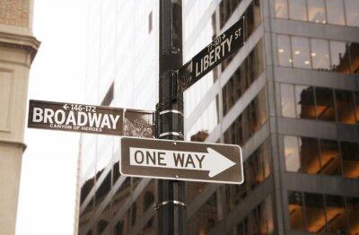 Obraz Broadway i jednym ze sposobów znak drogowy, Nowy Jork