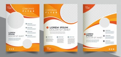 Obraz Brochure design, cover modern layout, annual report, poster, flyer in A4