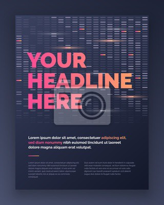 Brochure Layout template design in techno style, cover design background.