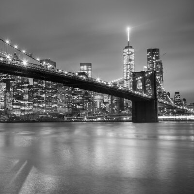 Obraz Brooklyn Bridge na zmierzchu, New York City.