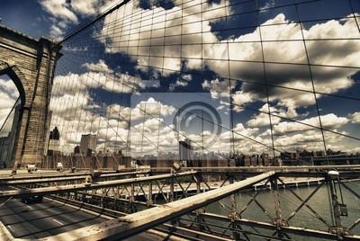 Brooklyn Bridge view, New York City