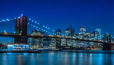 Obraz Brooklyn Bridge w Nowym Jorku Skyline