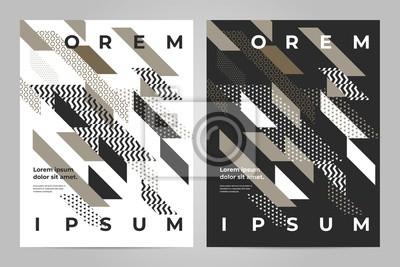 Obraz Broszura szablon wektor. Streszczenie kwadratowa okładka książki prezentacja portfela. Ulotki przedstawiają magazyn biznesowy i minimalny plakat.
