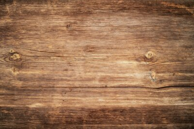 Obraz Brown unpainted natural wood with grains for background and texture.