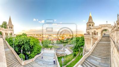 Budapest, Fischerbastei und Panorama über Budapest