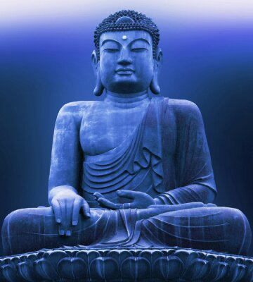 Obraz buddah blue