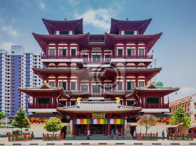 Buddha Tooth Relic Temple w China Town w Singapurze