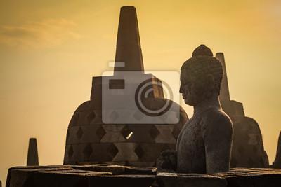 Buddy w otwartym stupa w Borobudur, świątynia, lub Barabudur J