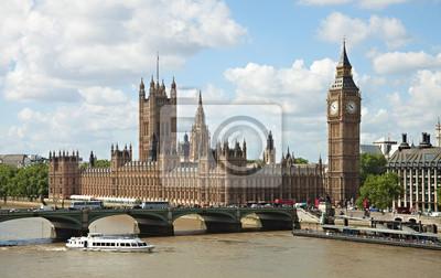 Budynek parlamentu w Londynie, UK .
