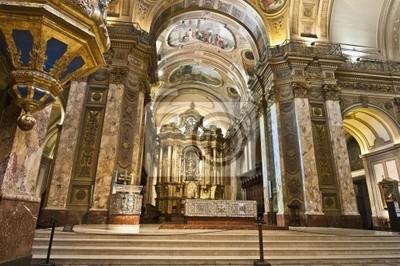 Obraz Buenos Aires Cathedral Wnętrze budynku głównego