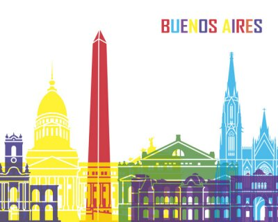 Obraz Buenos Aires skyline pop