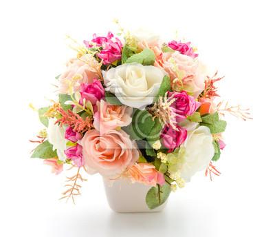 Obraz Bukiet kwiatów samodzielnie na białym tle
