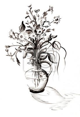 Obraz Bukiet w czerni i bieli