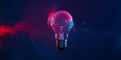 Obraz bulb explosion background