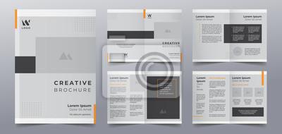 Obraz business brochure pages design templates