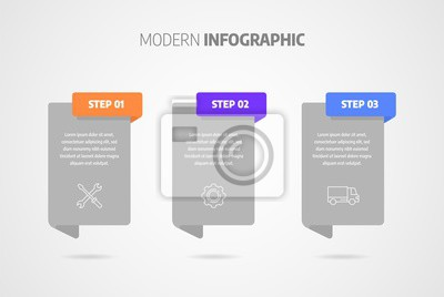 Business concept with steps or processes. Infographics design vector and marketing icons can be used for workflow layout, diagram, annual report, web design.