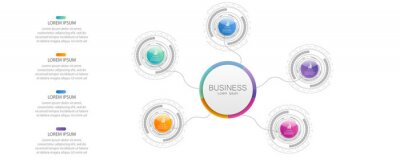 Business data visualization. Process chart. Abstract elements of graph, diagram with steps, options, parts or processes