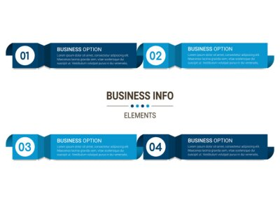 Business data visualization. Simple infographic design template. Abstract vector illustration.