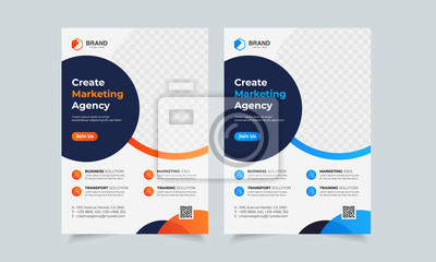 Obraz Business Flyer Corporate Flyer Template Geometric shape Flyer Circle Abstract Colorful concepts