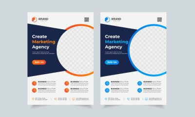 Obraz Business Flyer Template Corporate flyer template colorful gradient geometric circle shape