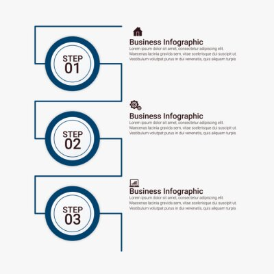 Business Infographic template. Design with numbers 2, 3, 4, 5, 6, options or steps.