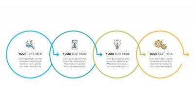 Business Infographic template. Thin line design with numbers 2, 3, 4, 5, 6  options or steps.