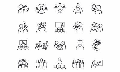 Obraz  Business Leadership icons vector design